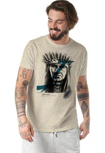 Camiseta Rulfini Store Indian Areia