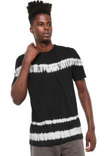 Camiseta Mcd Tie Dye Stripes Preta