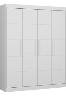 Guarda-Roupa Chocolate Plus Branco Com 4 Portas E 2 Gavetas - Multimóveis