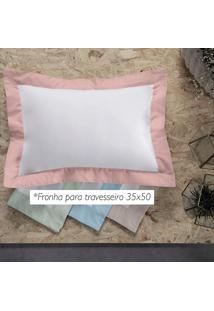Fronha Altenburg Mondrian Fuji 100% Algodæo Rosa - 35Cm X 50Cm Com 4 Abas Rosa