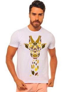 Camiseta Manga Curta Joss Geometric Masculina - Masculino-Branco