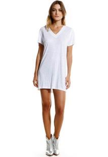 Vestido Rosa Chá Hope 1 Curto Malha Branco Feminino (White, M)