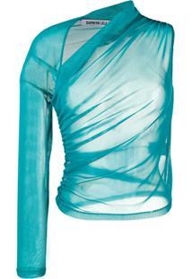 Supriya Lele Blusa Slim Assimétrica - Azul