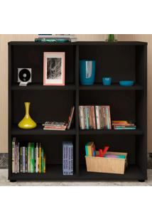 Estante Para Livros Clean 4 Prateleiras Preto 005330 - Artany