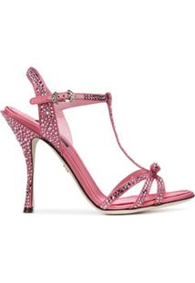 Dolce & Gabbana Sandália Com Aplicação - Rosa