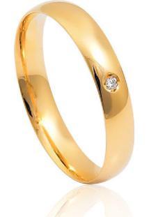 Aliança De Casamento Em Ouro 18K 3,4Mm Anatômica
