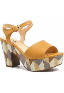 Sandália Zariff Shoes Plataforma Fivela Marrom