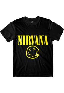 Camiseta Bsc Nirvana Print Sublimada Preto