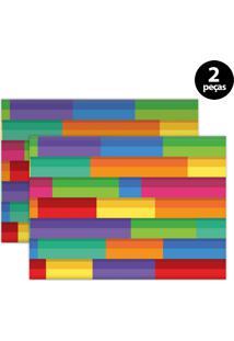 Jogo Americano Mdecore Abstrato 40X28Cm Verde 2Pçs