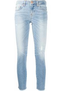 7 For All Mankind Calça Jeans Skinny Cintura Baixa - Azul