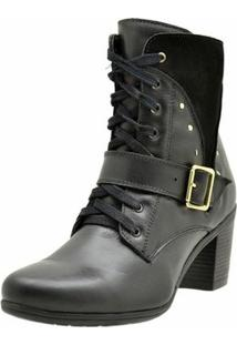 Bota Atron Shoes Ankle Boot - Feminino-Preto