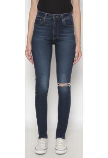 Calça 721™ High Rise Skinny Estonado- Azul Escurolevis