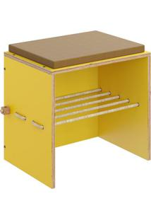Sapateira Com Banco | Banqueta Cordel Amarelo
