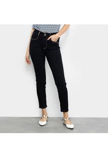 Calça Jeans Cigarrete Lança Perfume Super High Feminina - Feminino-Azul Escuro
