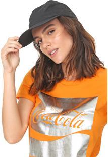 Camiseta Coca-Cola Jeans Estampada Laranja