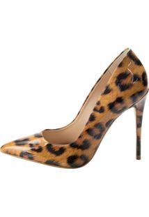 Scarpin Cocco Miami Leopardo Bege