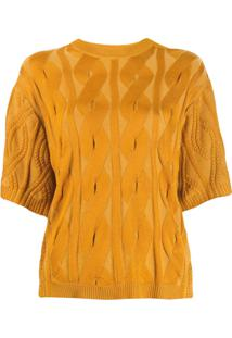 Chloé Cable Knit Sweater - Amarelo