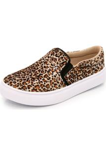 Sapatilha Slip On Ec Shoes Onça