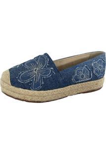 Alpargata Jeans Lis Calçados Azul