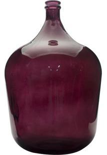 Garrafa Decorativa- Vermelha- 57,5Xø56Cmdynasty