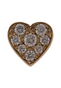 Sophie Bille Brahe Par De Brincos Petite Coeur De Ouro 18K Com Diamante - Dourado