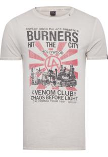Camiseta Masculina Burners - Off White
