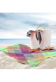 Toalha De Praia / Banho Traços Geometricos Color One
