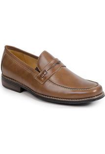 Sapato Social Masculino Loafer Sandro Moscoloni Griesman Latego Marrom Claro