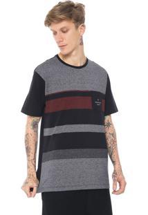 Camiseta Quiksilver Vista Preta/Cinza
