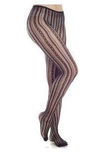 Meia-Calça Rendada Tranças Trifil (X06055/6055) Fio 40