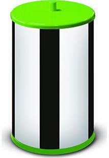 Lixeira 6,3 Litros Com Tampa E Fundo Verde 54400V-03 - Martinazzo