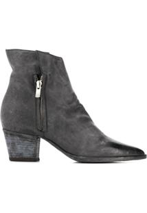 Officine Creative Ankle Boot 'Audrey' De Couro - Preto