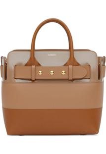 Burberry Small Triple-Stud Belted Tote - Neutro