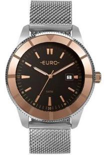 Relógio Euro Metal Trendy Feminino - Feminino-Prata