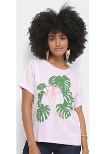 Camiseta Cantão Local Sisters Feminina - Feminino-Rosa
