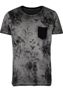 Camiseta Caveira Masculina Detrick