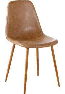 Cadeira Tania Marrom E Nogueira