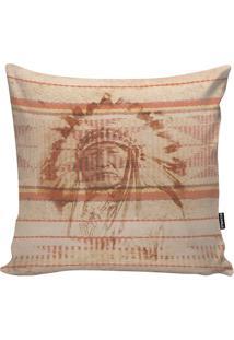 Capa De Almofada Indian Apache- Bege & Laranja- 45X4Stm Home