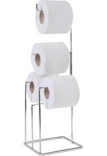 Papeleira / Revesteiro / Suporte Para Banheiro De Aço Inox Com 4 Ap.