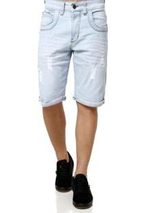 Bermuda Jeans Masculina Azul Claro