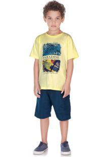 Camiseta Masculino Pulla Bulla - Masculino-Amarelo