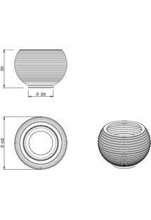 Vaso Para Plantas Redondo Em Polietileno 42 Esfera Lattice 33Cmx31Cm Japi Mármore