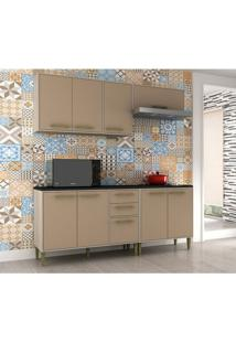 Cozinha Compacta Vitória 8 Pt 3 Gv Capuccino E Creme