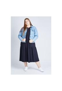 Jaqueta Jeans Blue Médio Gang Plus Size Feminina
