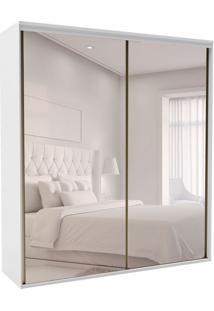 Guarda-Roupa Casal Com Espelho Luminum 2 Pt 3 Gv Branco