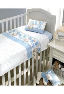 Lençol Duplo Bebe Dohler Estampado Baby Boy 3Pcs
