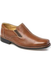 Sapato Social Masculino Side Gore Sandro Moscoloni Tampa Marrom Claro
