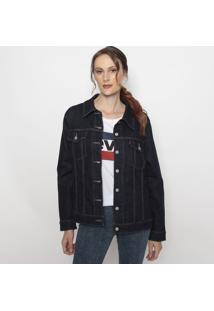 Jaqueta Jeans Com Bolsos- Azul Escurolevis