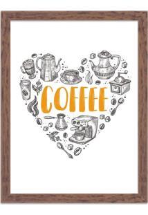 Quadro Decorativo Love Coffe Madeira - Grande
