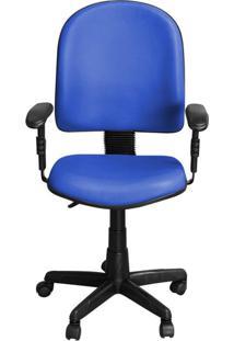 Cadeira Pethiflex Pegbd Giratória Couro Azul
